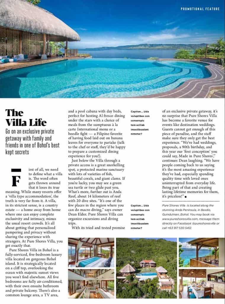rates at pure shores villa philippines